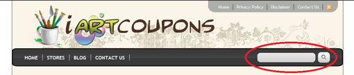 Using iArtCoupons.com Search